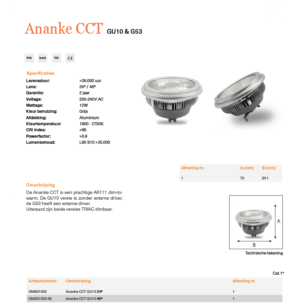 Ananke LED lamp specificaties